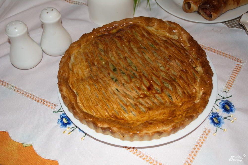Пирог с сыром из дрожжевого теста