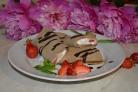 Шоколадные блинчики с мороженым