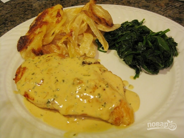 как приготовить курицу в сливочном соусе на сковороде