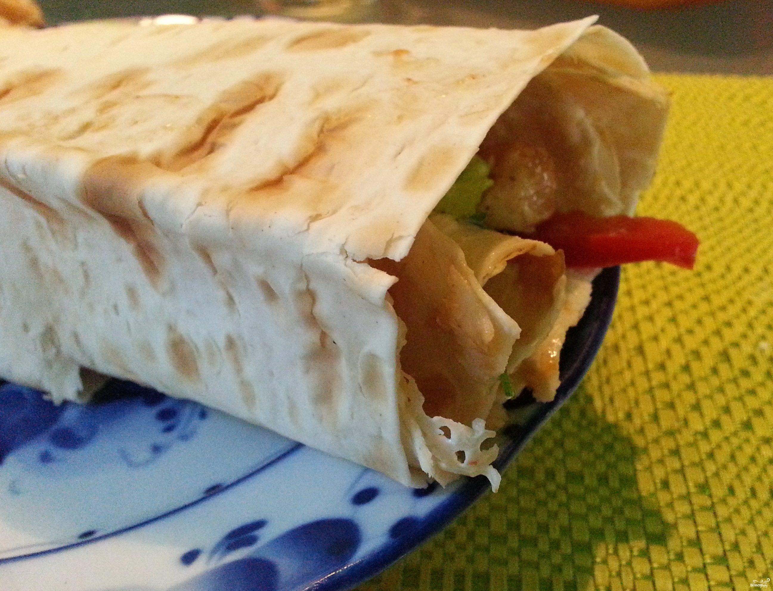 Шаурма по-домашнему с мясом
