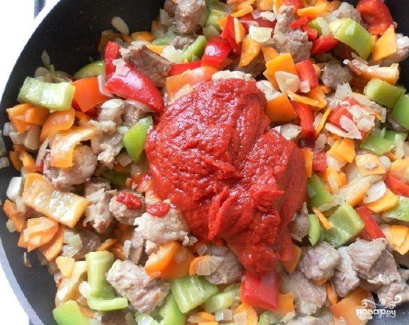 Овощное рагу со свининой и кабачками - фото шаг 7