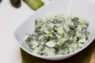 Салат из огурцов и зелени