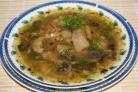 Чечевичный суп с грибами