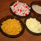Рецепт Крабовый салат с кукурузой