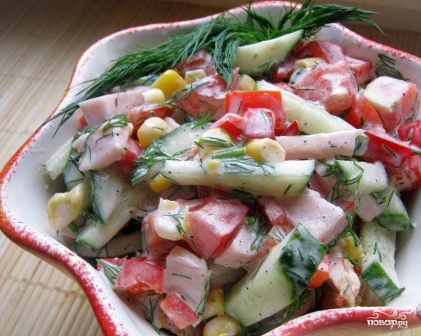 Салат с копченой курицей рецепт с фото очень вкусный с