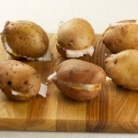 Рецепт Картофель, запеченный с салом