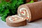 Рулет из отварной печени с пикантной начинкой