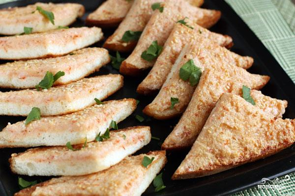 Креветочные тосты - фото шаг 7