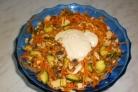 Салат Ромашка с корейской морковью