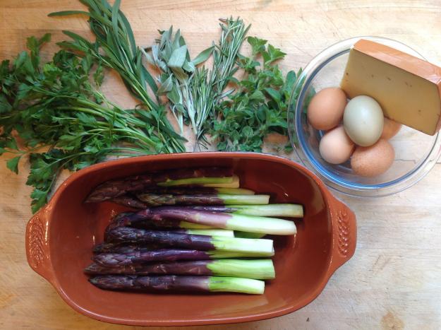 Рецепт Гратен из спаржи с сыром