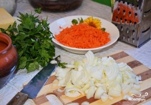 Жульен со свининой и картошкой - фото шаг 3