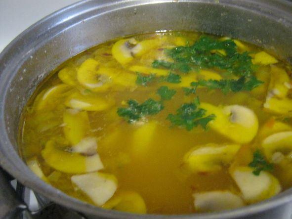 Суп с мясом и грибами   - фото шаг 11