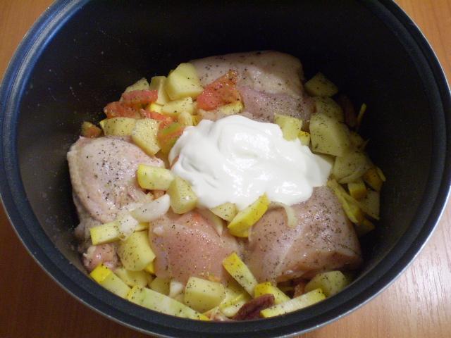 Курица с овощами с сметане - фото шаг 5