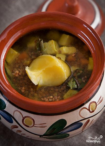 Гречка с овощами и сыром в горшочке - фото шаг 6