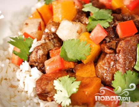 Рецепт Жаркое из свинины, репы и картофеля