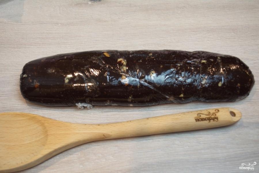 Шоколадная колбаса - фото шаг 9