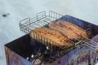 Стейк из семги на решетке