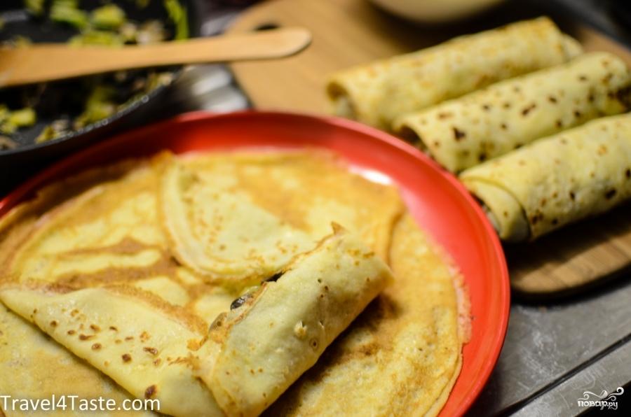 Блинчики с овощной начинкой - фото шаг 7