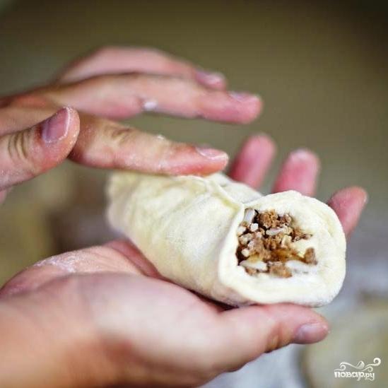 Пирожки с мясом и рисом - фото шаг 16
