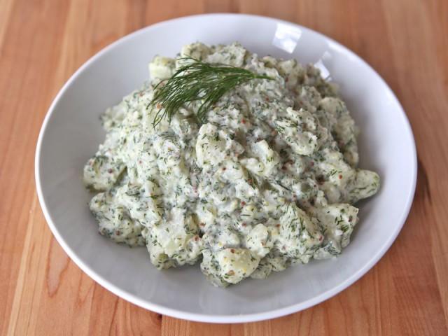 Картофельный салат с укропом - фото шаг 3
