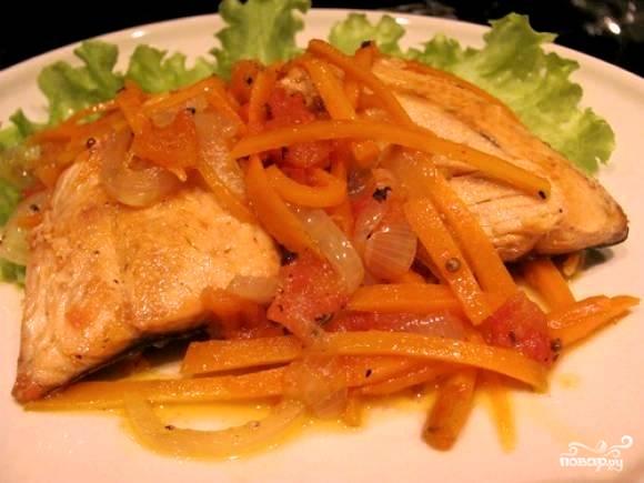 Рецепт Горбуша в маринаде с морковью