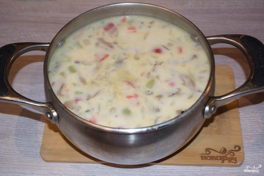 Суп из вешенок с картошкой - фото шаг 6