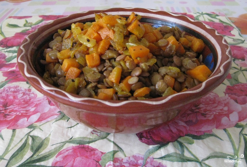 Чечевица с овощами - фото шаг 5