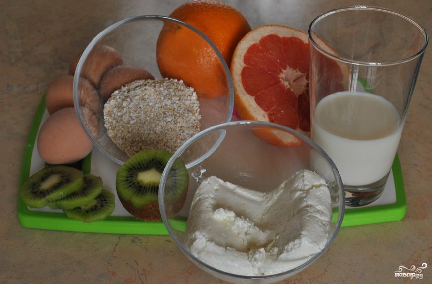Овсяно-творожные кексы - фото шаг 1