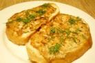 Бутерброды с горбушей консервированной