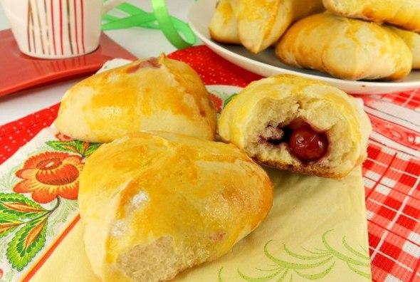 Пирожки духовые с вишней - фото шаг 4