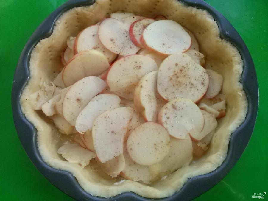 Яблочный пирог со сметанной заливкой (очень вкусный) - фото шаг 6