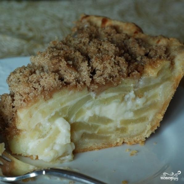 Яблочный пирог со сметаной - фото шаг 9