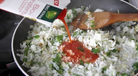 Мусака с баклажанами и рисом - фото шаг 3