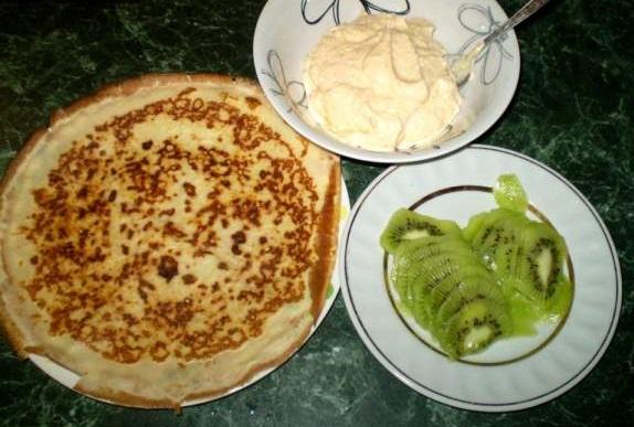 Рецепт Блинчики с киви