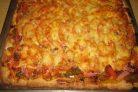 Пицца в духовке (тесто на майонезе)