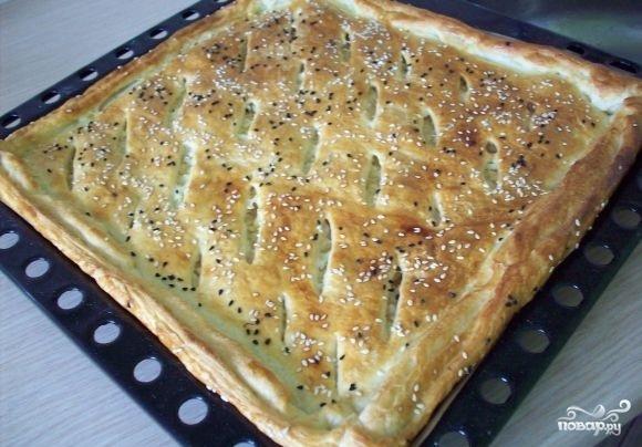 Пироги из слоеного теста с капустой - фото шаг 10