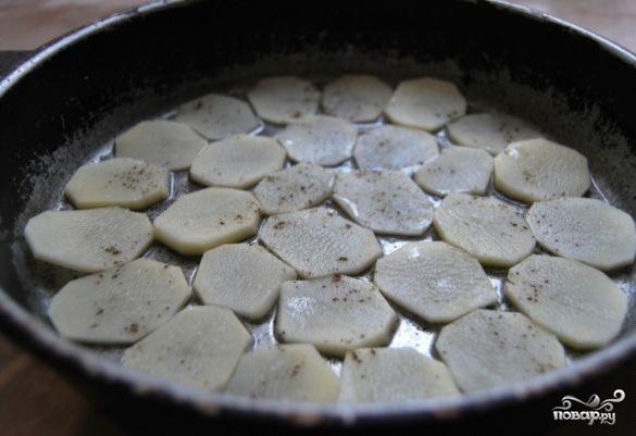 Семга запеченная с картофелем - фото шаг 2