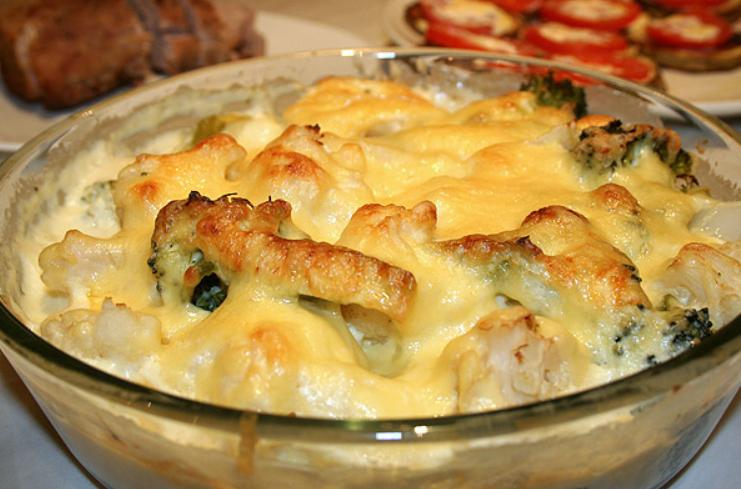Рецепт из цветной капусты в духовке гратен