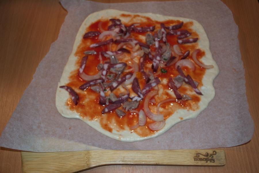 Пицца с индейкой - фото шаг 5