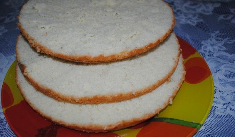 Бисквитный торт в мультиварке - фото шаг 5