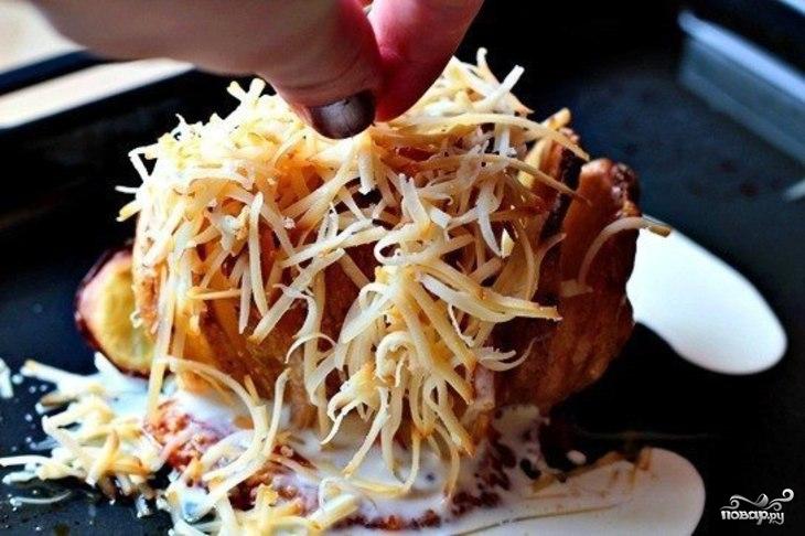 Печеный картофель с сыром - фото шаг 3