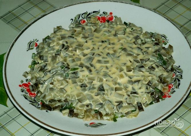 Салат с рыбными консервами фото рецепт