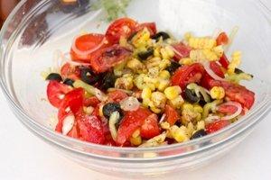 Салат к запеченному мясу - фото шаг 6