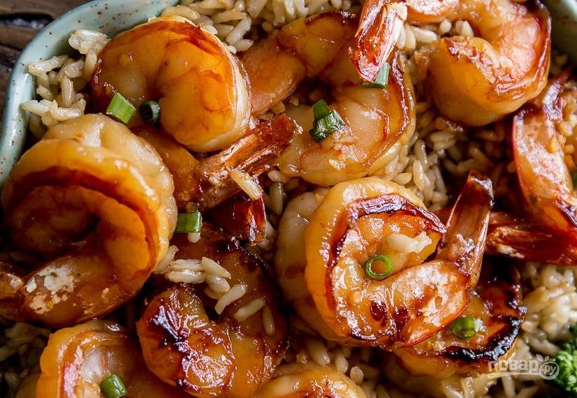 рецепты королевские креветки в соевом соусе с чесноком
