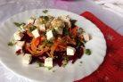 Салат из вареной свеклы и моркови