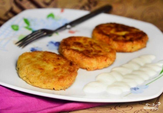 Картофельные котлеты с геркулесом