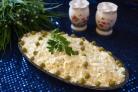 Пасхальный салат с курицей