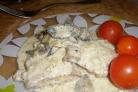 Телятина с грибами в сметане