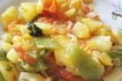 Овощное рагу из кабачков с картофелем