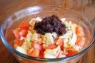 Салат с баклажанами, помидорами и луком